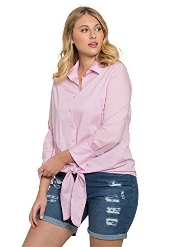 83b902d03 Roamans Womens Plus Size Tie Front Kate Shirt Peony Pink32 W * Check out  this great product.Note:It is affiliate link to Amazon. #fashion