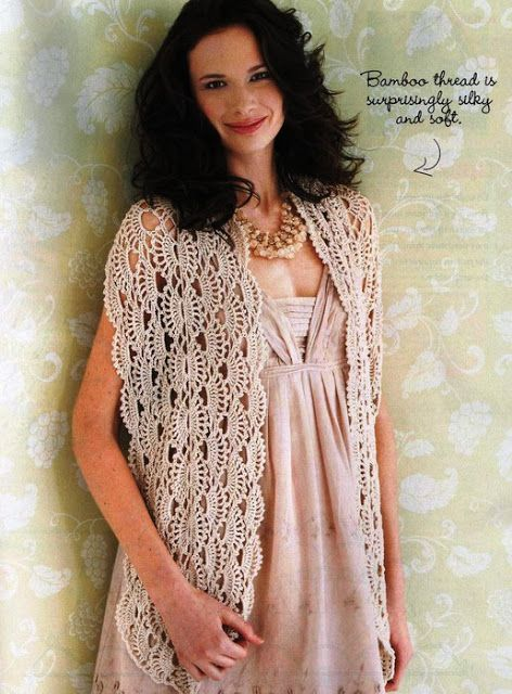 Wide Fan Crochet Shawl Pattern