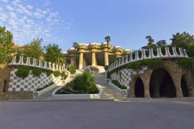 Central entry park Guell
