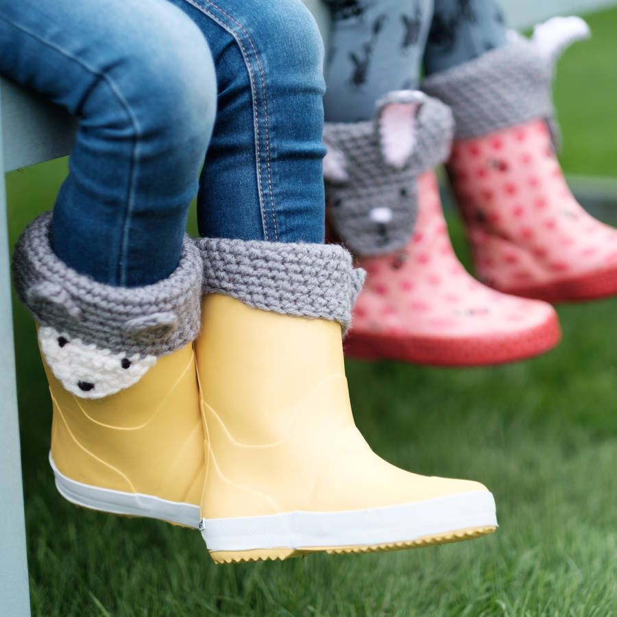 Animal Character Handmade Boot Toppers | Boot toppers, Crochet and ...