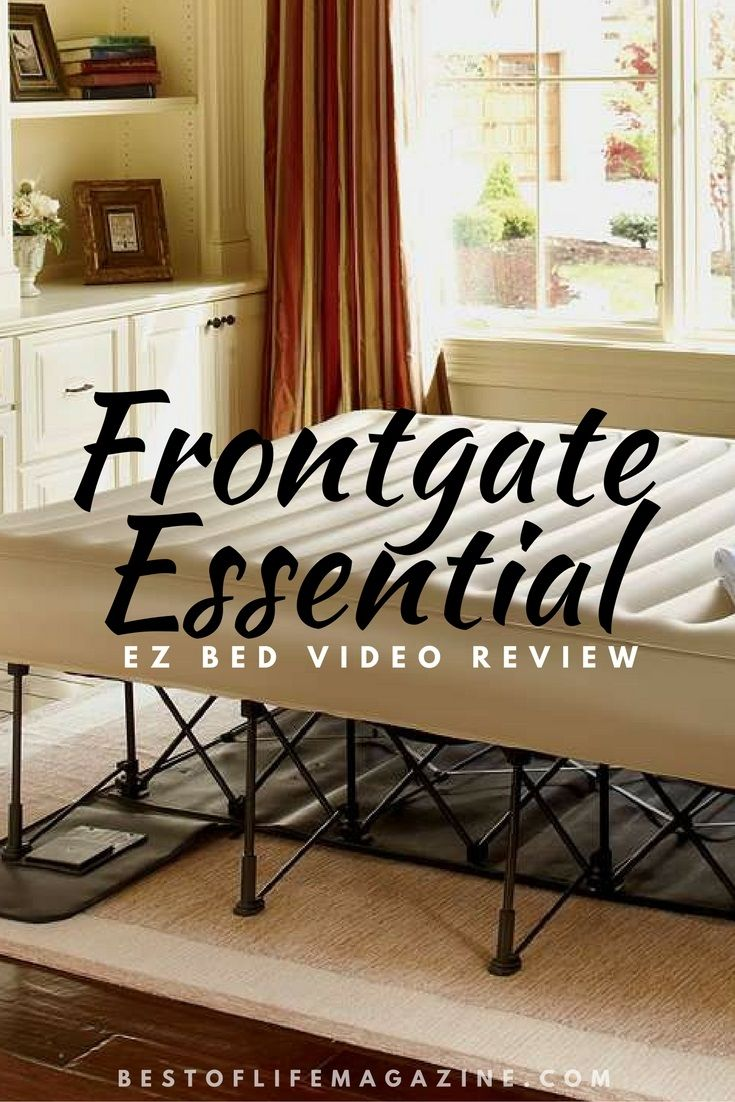 frontgate ez bed inflatable bed review and video air mattress and