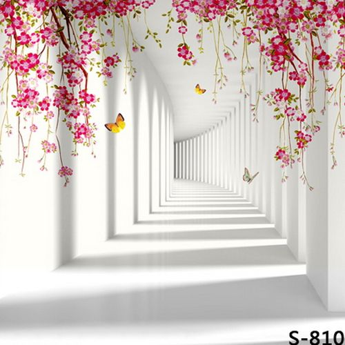 Non-Woven Photography Backdrops Cartoon 3D White Wall ...