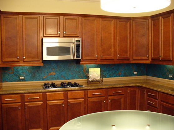 heavy copper backsplash sheets | copper backsplash, kitchen redo