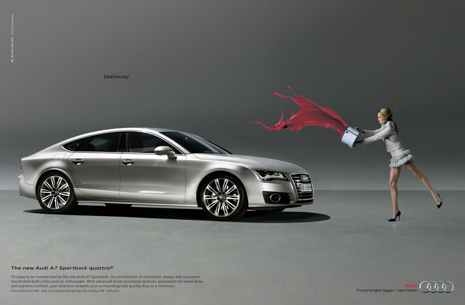 The new audi sportback quattro print advertisement