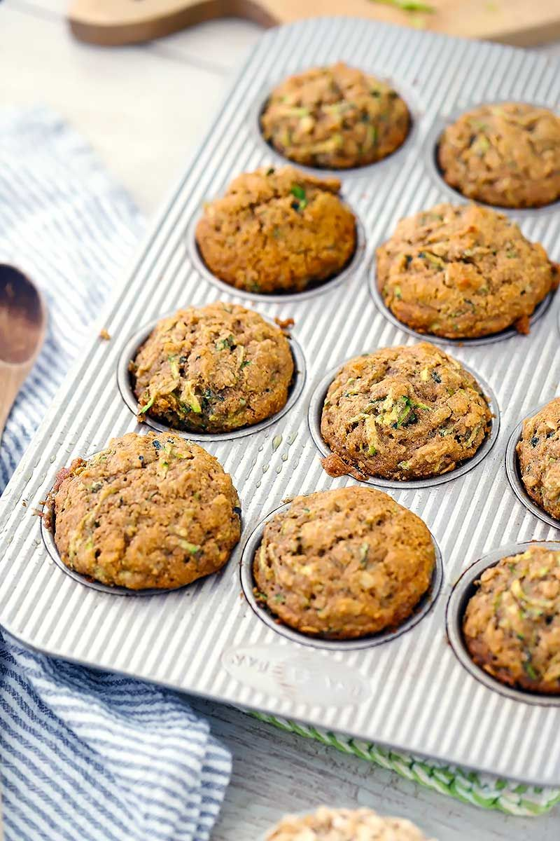 Healthy Zucchini Muffins Made With Olive Oil And Whole Grains Recipe Zucchini Muffins Healthy Zucchini Muffins Healthy Muffin Recipes