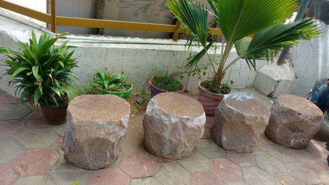 Pleasing Garden Benches And Tables Made Of Stone Stoneart Benches Bralicious Painted Fabric Chair Ideas Braliciousco