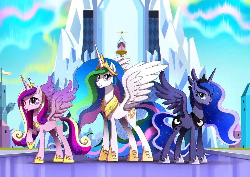 Картинки принцессы каденс и принцессы луны