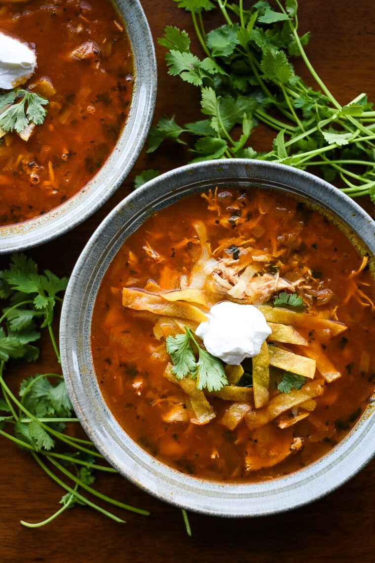 Authentic Chicken Tortilla Soup | Dude That Cookz