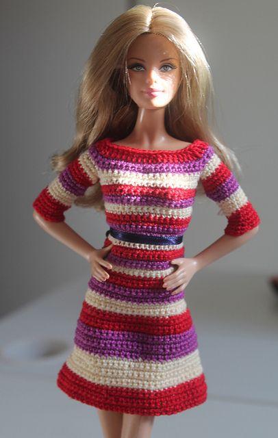 Long Sleeve Dress | Barbie Clothes - Crochet | Pinterest ...