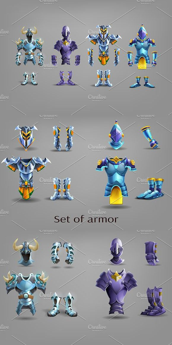 Set of armor Armor, Types of armor, Settings