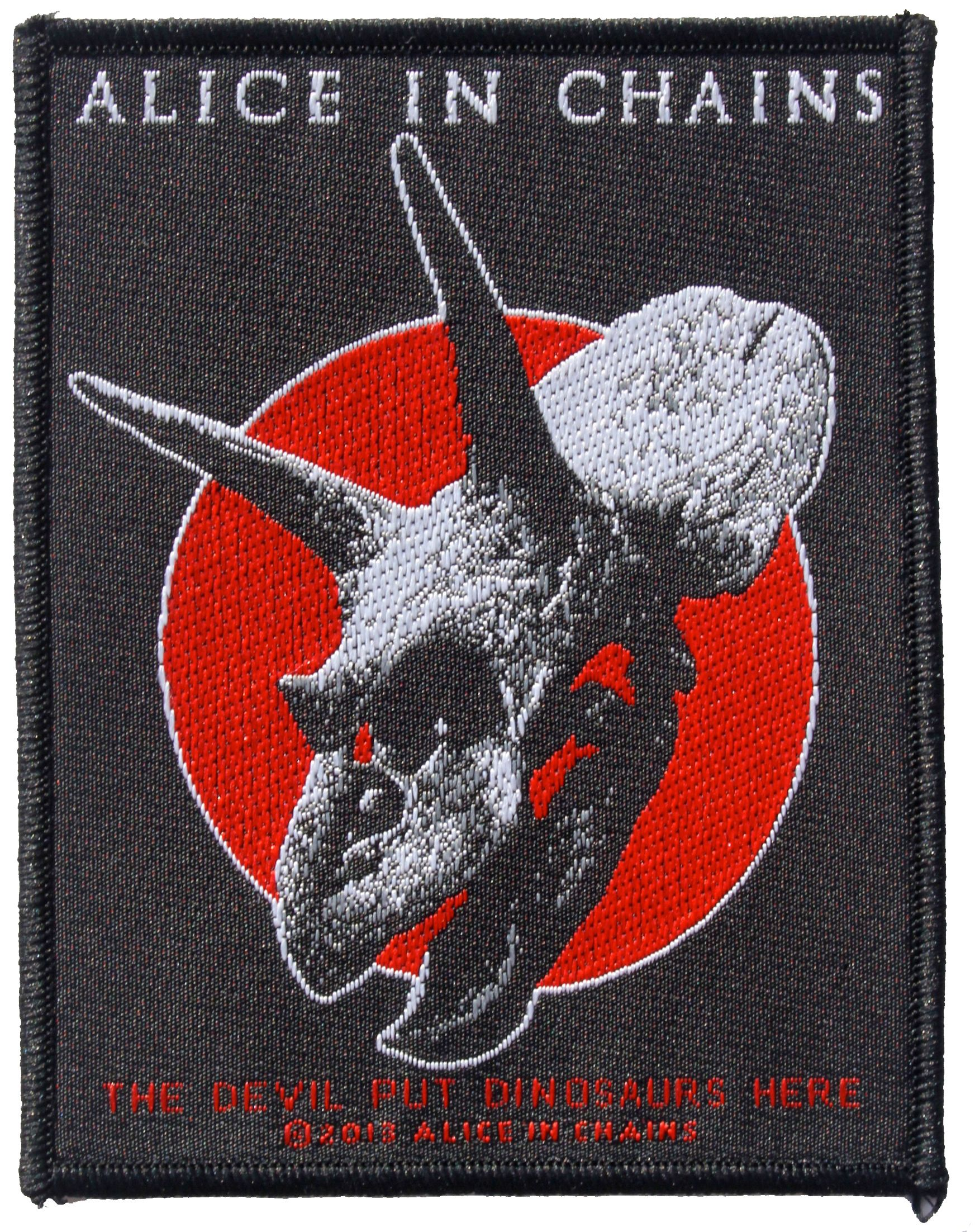 alice in chains the devil put dinosaurs here official patch in stock at. Black Bedroom Furniture Sets. Home Design Ideas