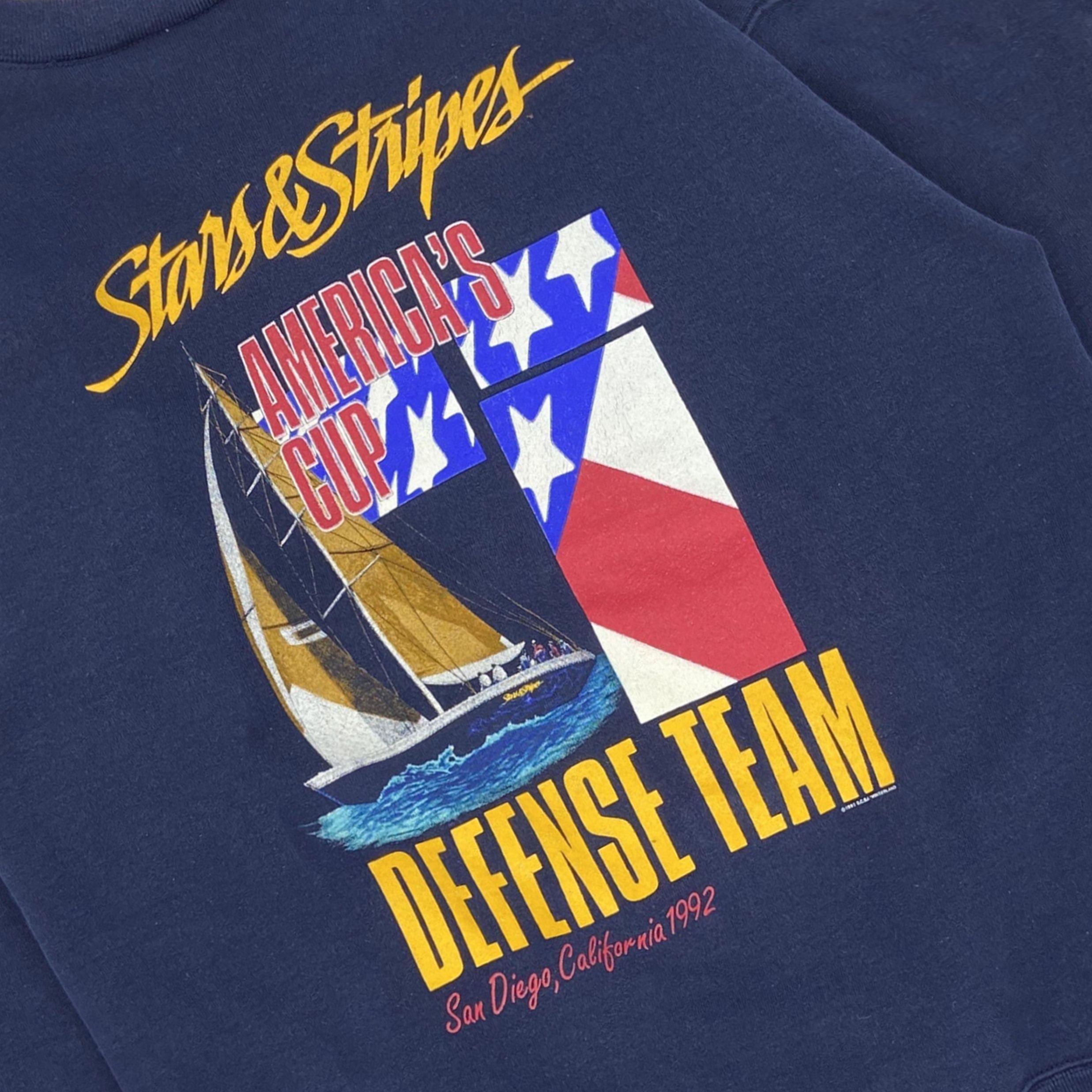 Vintage 1991 Americas Cup Defense Team Crewneck ...