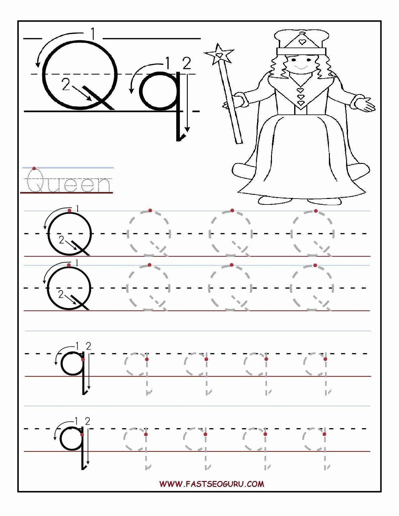 Letter Q Worksheets For Preschoolers In