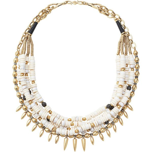 Stella & Dot Nomad Statement Necklace ($129) ❤ liked on Polyvore featuring jewelry, necklaces, bead strand necklace, stella dot jewelry, statement necklaces, vintage beaded jewelry and vintage jewellery