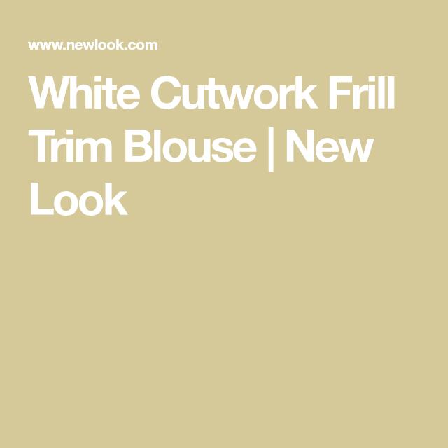 0caeaf0d4b91e8 White Cutwork Frill Trim Blouse in 2019