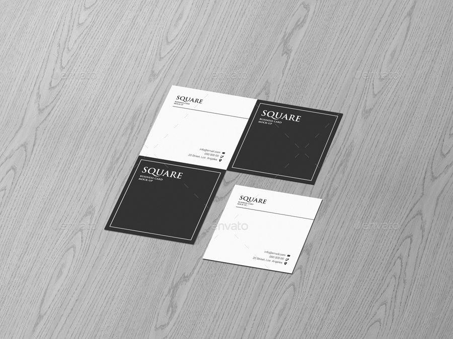 Square Business Card Mockup Kostenlos Herunterladen In