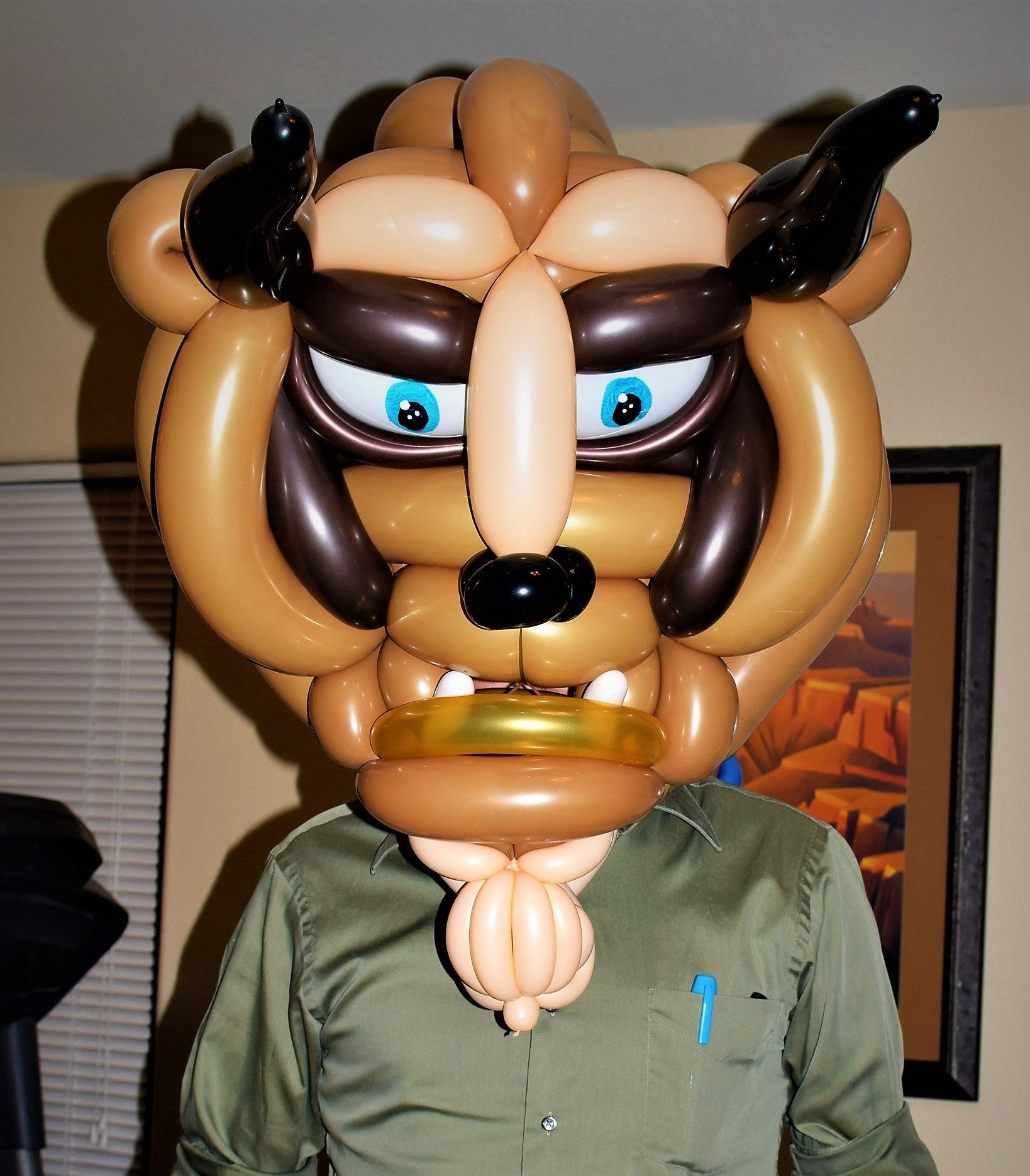Beast Balloon Mask From Beauty And The Perfect For Birthday Party Costumed Event More Made By Las Vegas Best Artist Jeremy Johnston