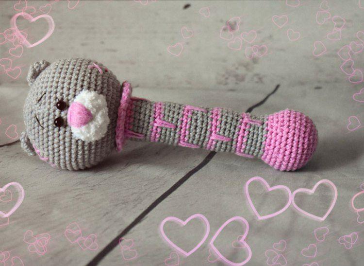 Amigurumi Rattle Free Pattern : Teddy bear crochet rattle free pattern hÁČkovanÉ hraČky