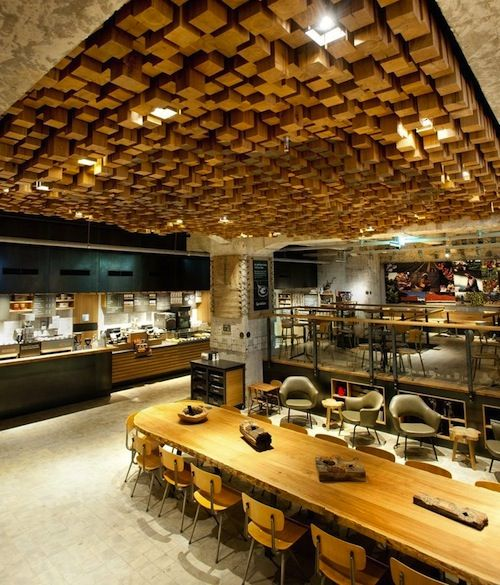 Starbucks amsterdam retail shopping design del for Arredamento sala ristorante