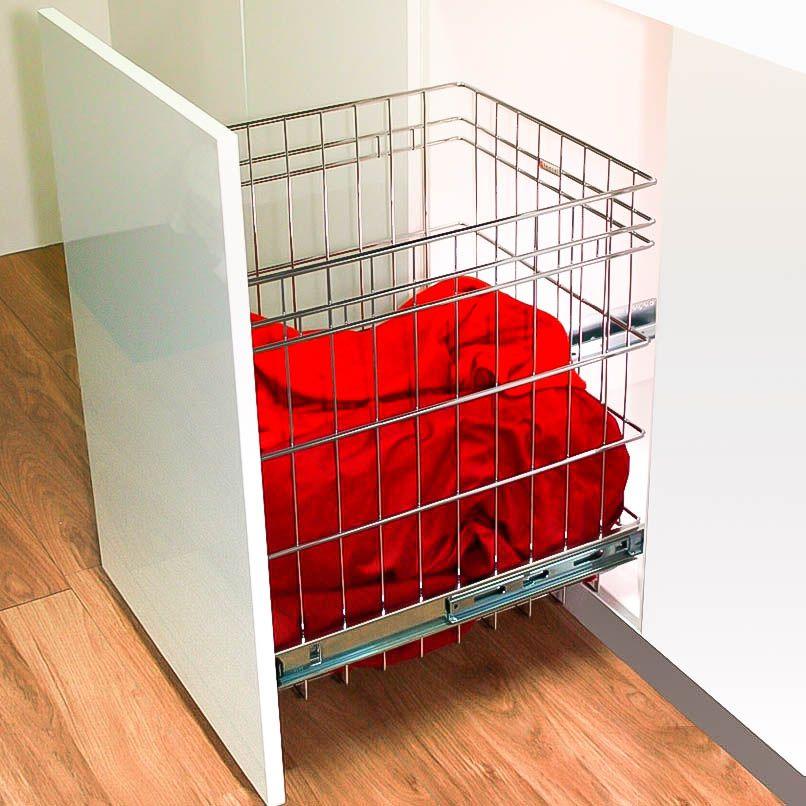 Stainless Steel Wire Door Mount Laundry Basket Laundry Doors