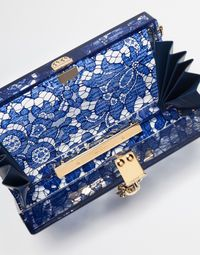 b454a6d9f7 Dolce box clutch in plexiglass and lace | PURSEonality | Women ...