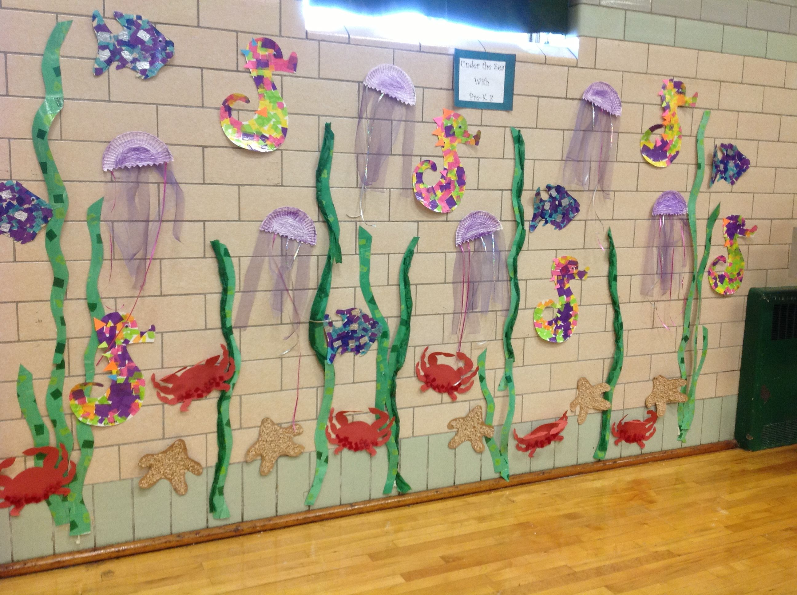Under The Sea With Pre K 3 Ocean Themed Art Projects For Our Moving Up Ceremony Mural