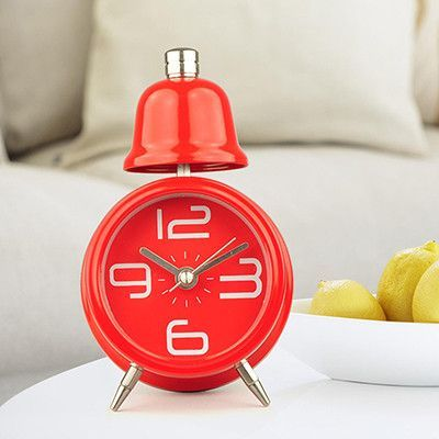 NEW High Quality Single Bell Horse Desk Alarm Clock 6 Color Options Available