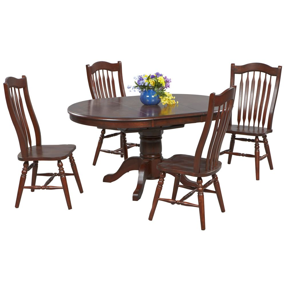 Vintage Oval Dining Table Chairs By Winners Only Conventional