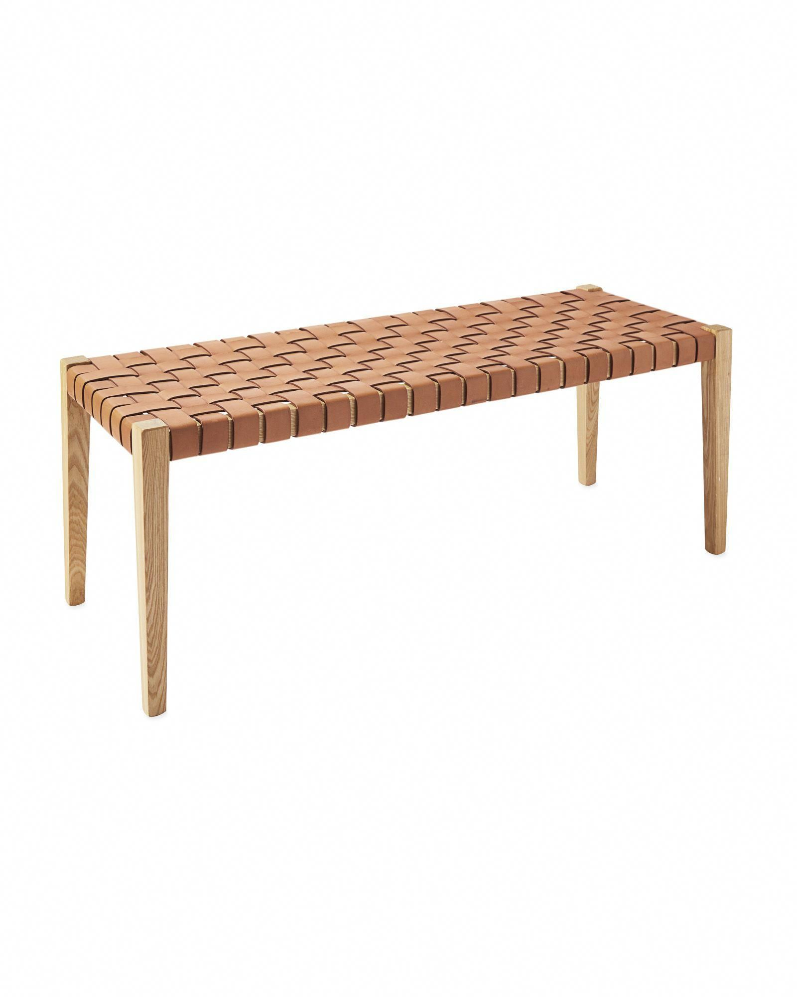Couchtisch Rimini Deluxe Bench Woven Leather Seat In Natural By Globewest In 2019