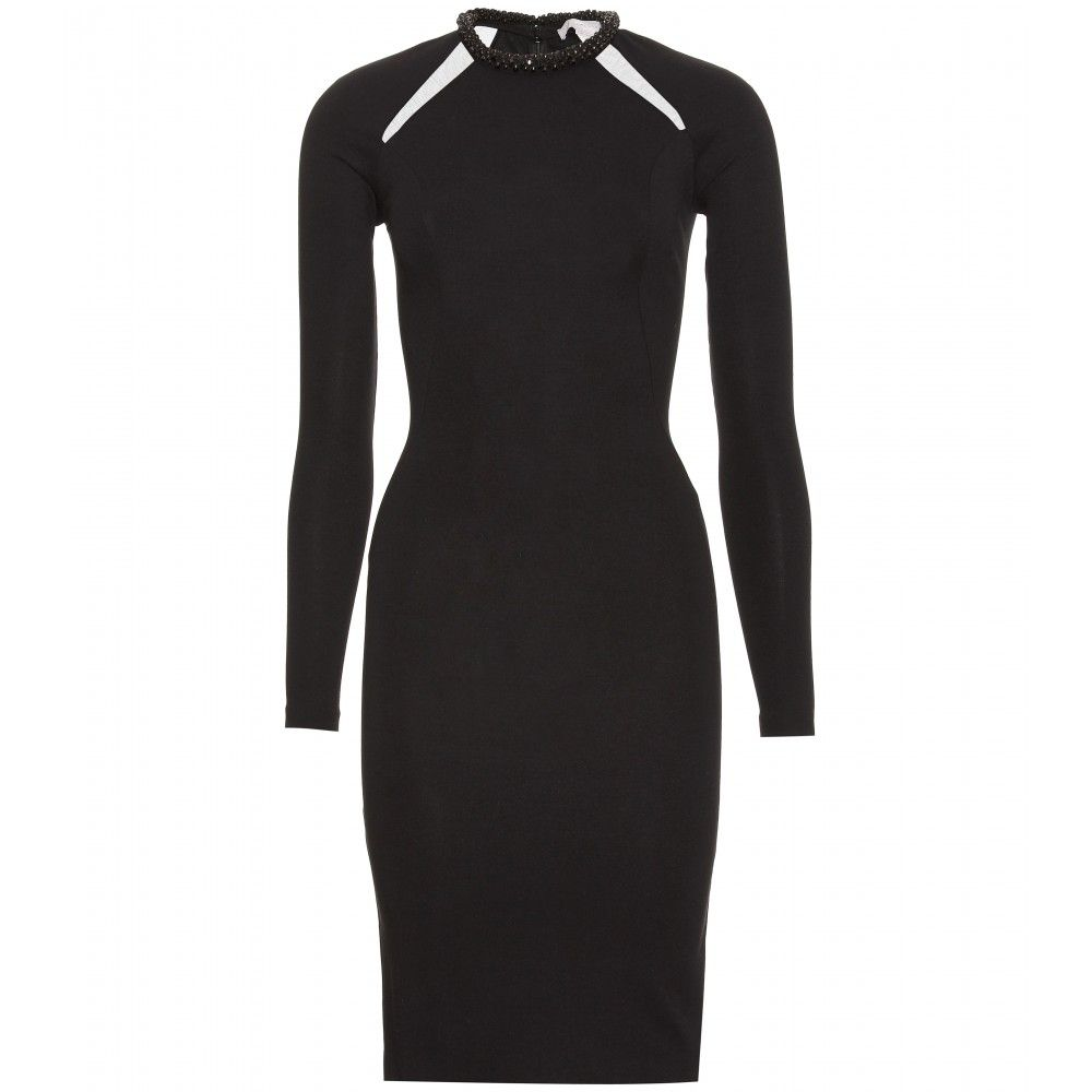 Stella McCartney Mesh Insert Dress With Embellished Collar