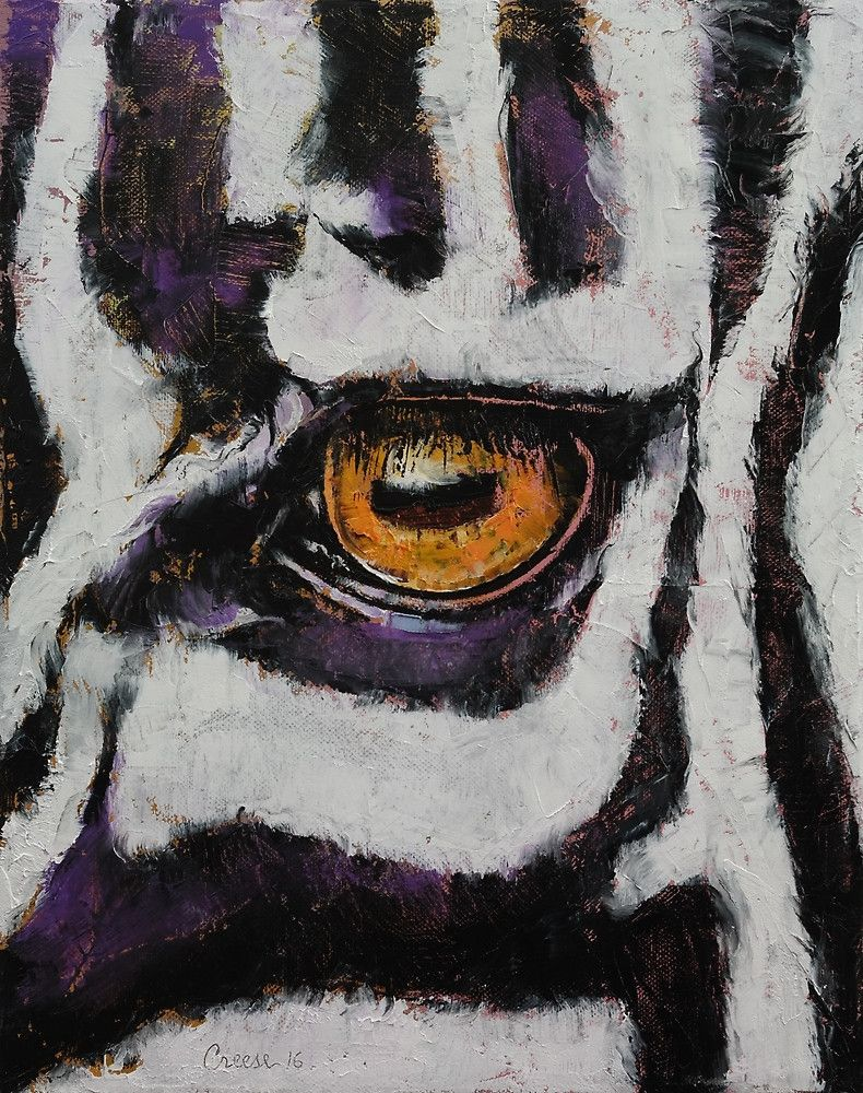 Creese Zebra By Michael Creese Art Zebra Painting Zebra Wall Art