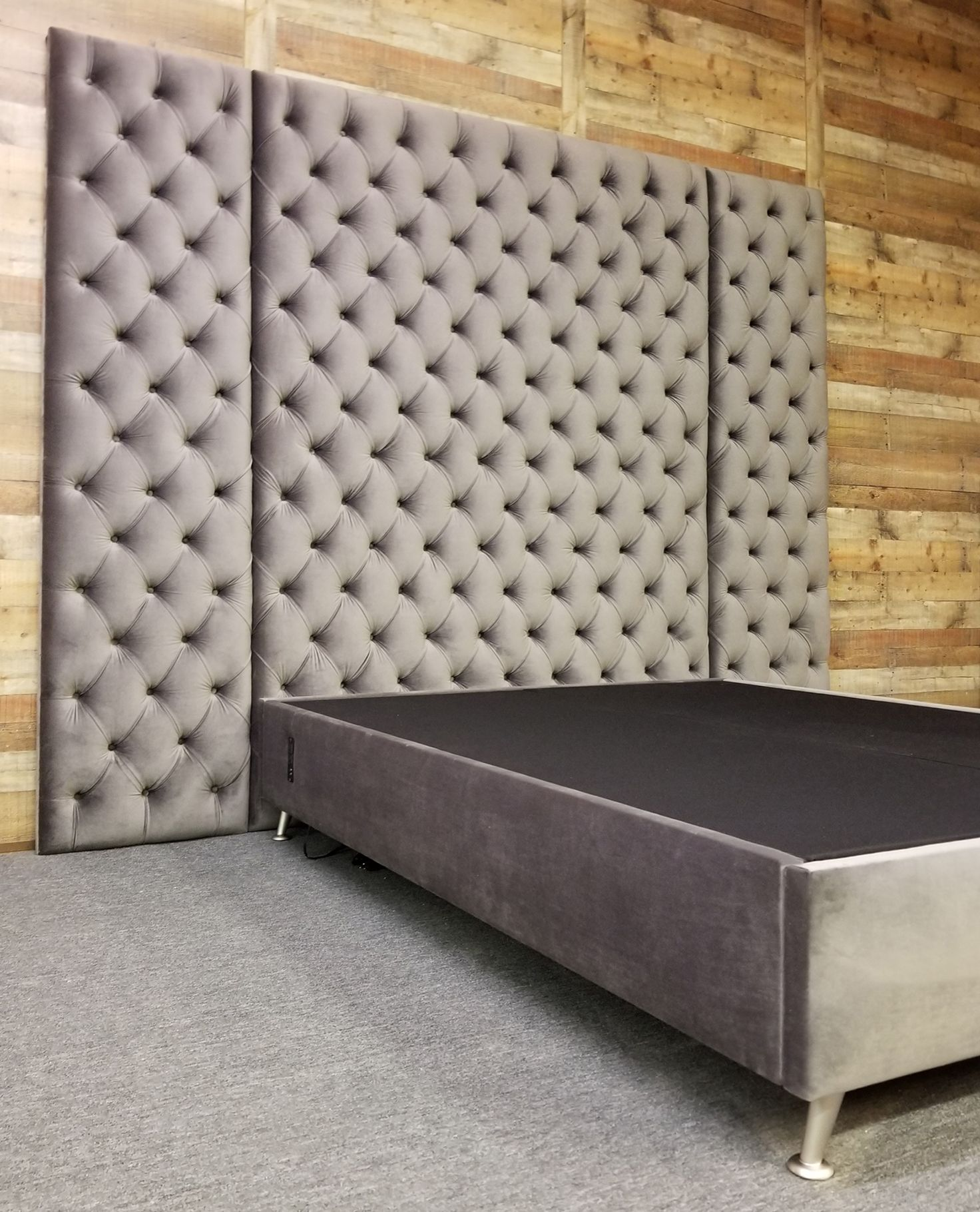 10 Feet Tall Tufted Panels With Bed Frame Upholstered Walls