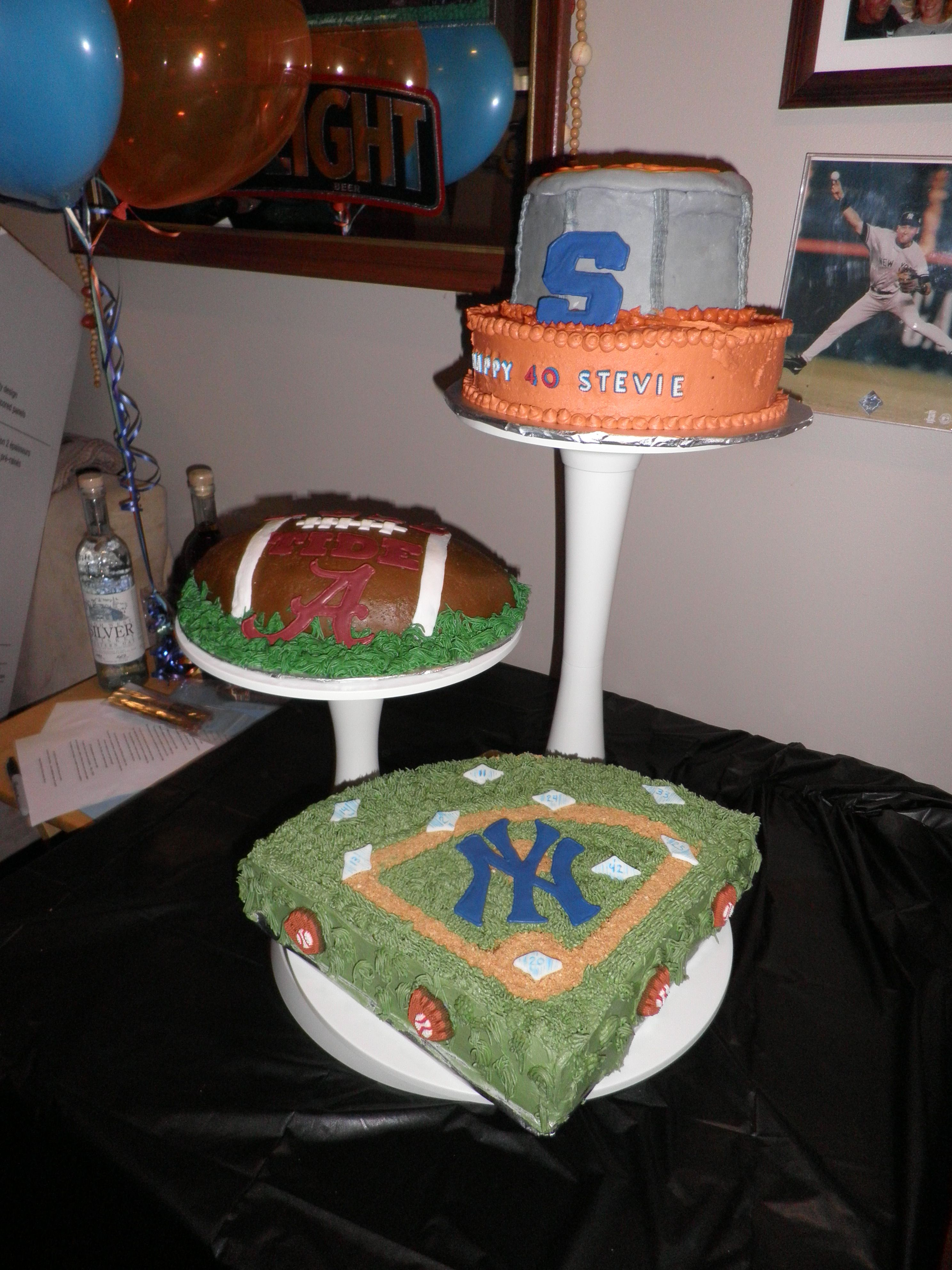 AWESOME 40th Birthday Cake made by M Mraz for My Sports crazy