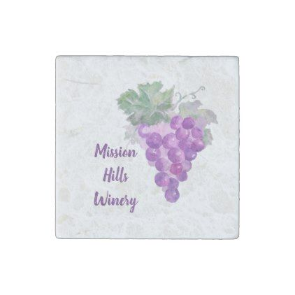PERSONALIZED GRAPES KITCHEN MAGNET WINE