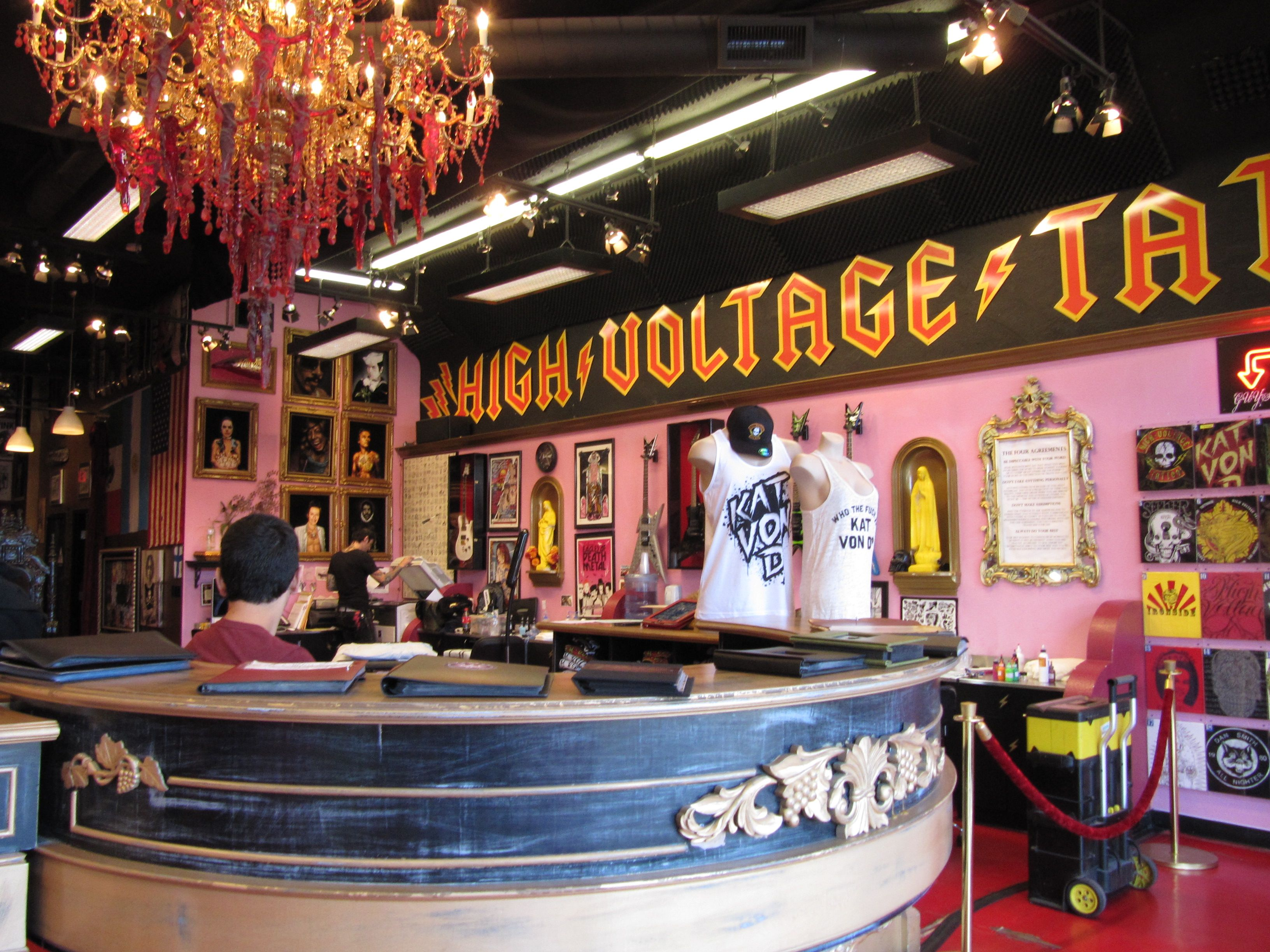 High voltage tattoo los angeles couldn 39 t go all the way for Tattoo shops los angeles