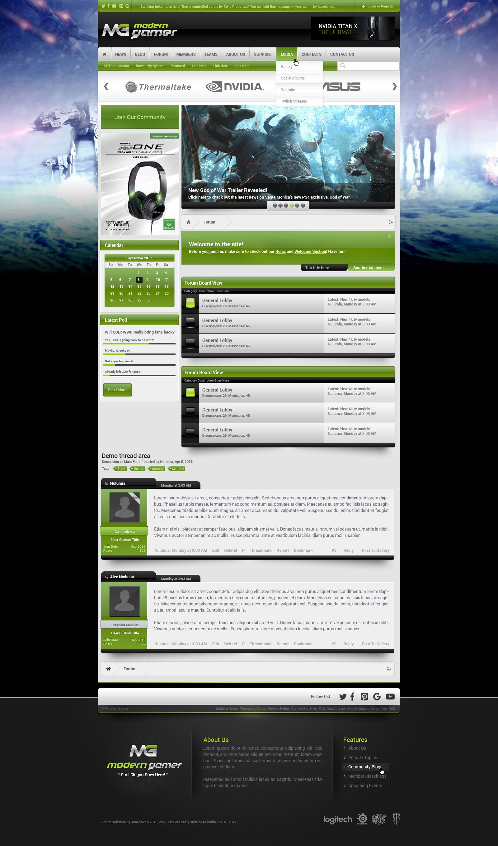modern gamer incredible gaming templates and themes pinterest