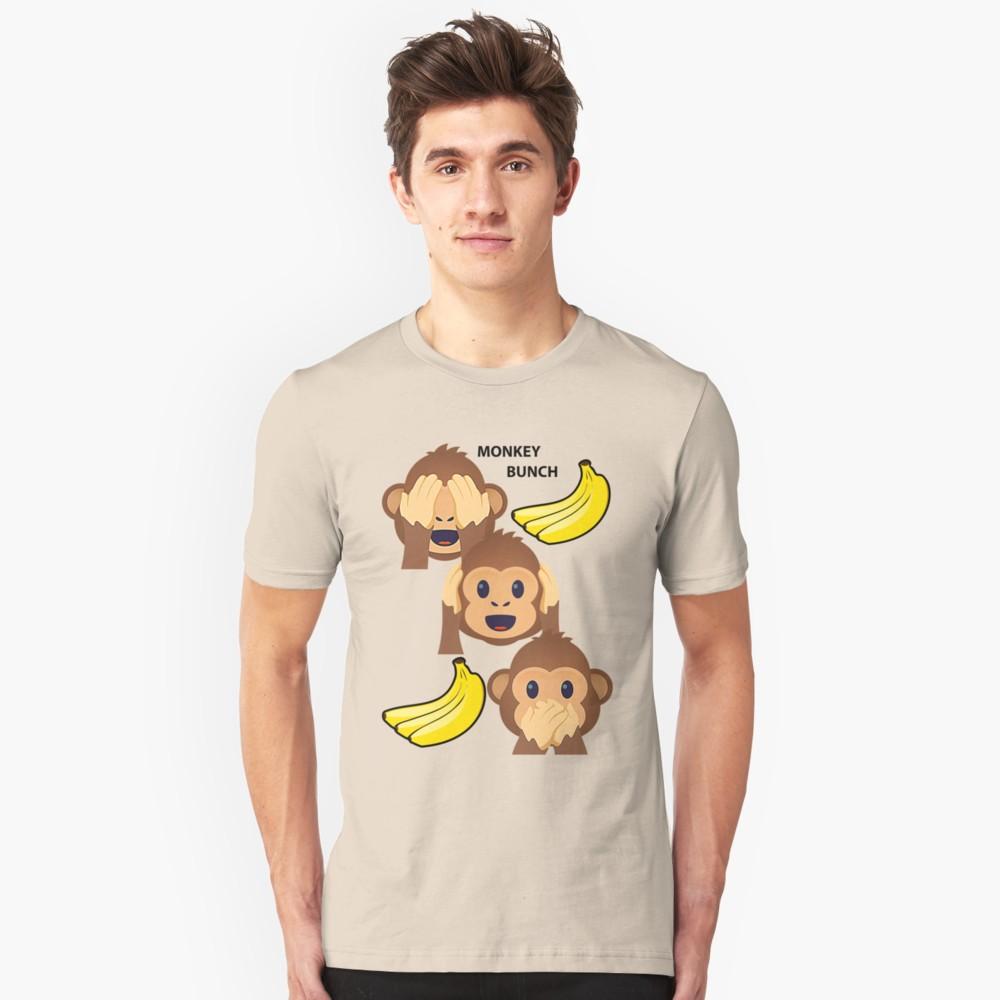 Monkey Bunch See No Evil Hear No Evil Speak No Evil Joypixels Emoji T Shirt By Sandyspider Cool T Shirts Shirts Shopping Outfit