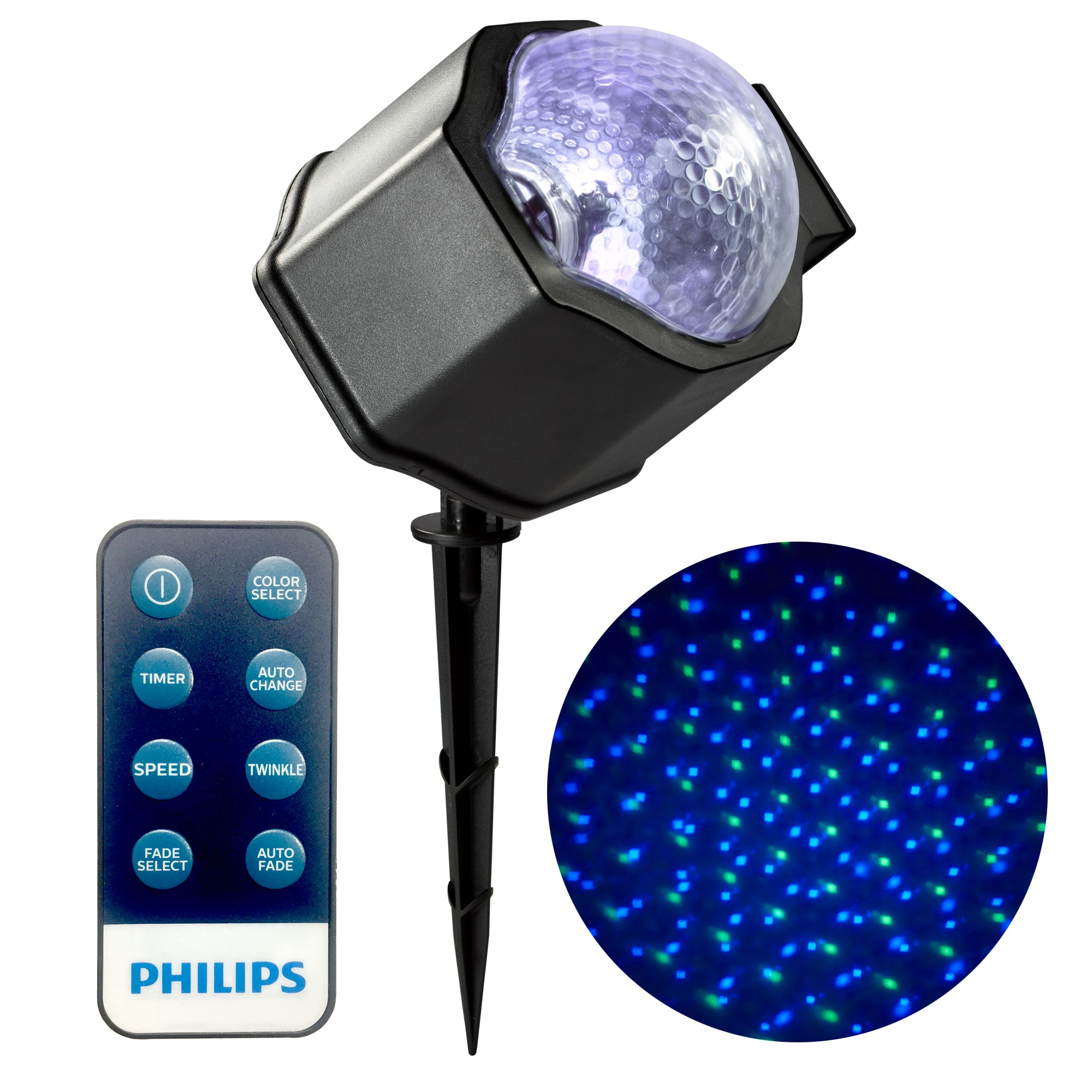 Philips 1ct Christmas Led Motion Projector Falling Snow