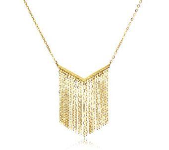 44b8c1db1 9ct Gold Forzatina Fringe 45cm Necklace - 306845 Qvc Uk, Just Shop, Gold  Necklace
