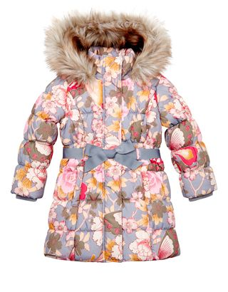 Blossom Butterfly Padded Coat | Grey | Monsoon | Girls kiddie ...