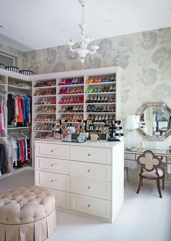 Best begehbearer kleiderschrank schuhe spiegel schminktisch