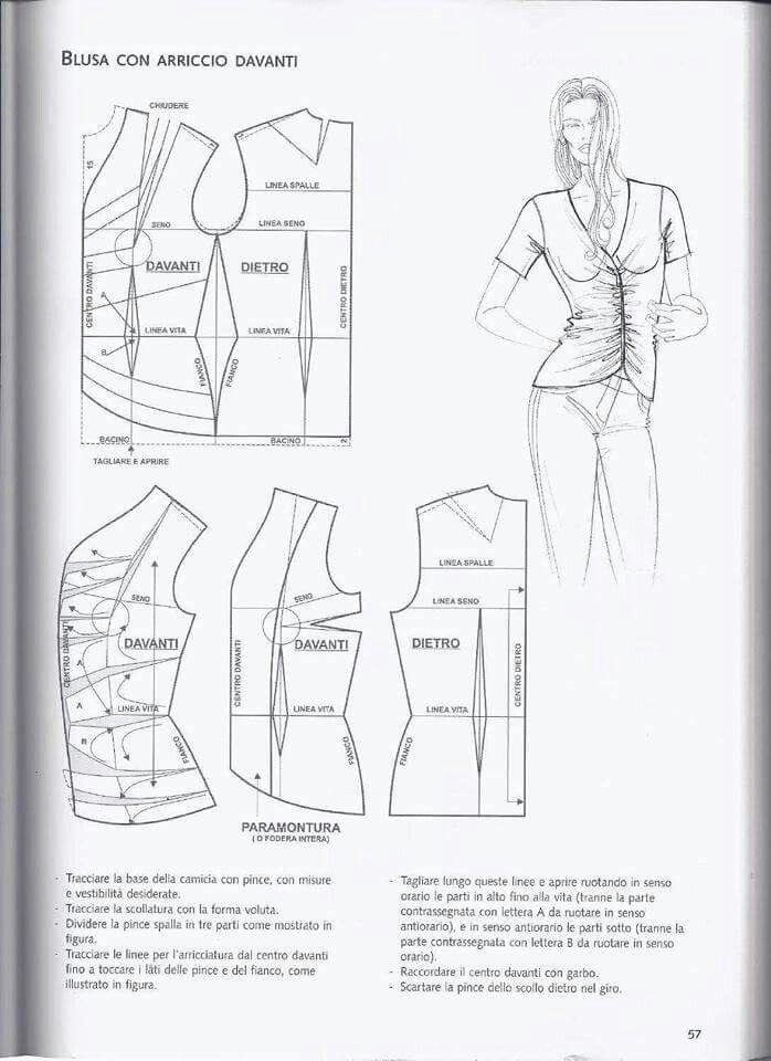 Fruncido central en camiseta | costura 2 | Pinterest | Costura ...