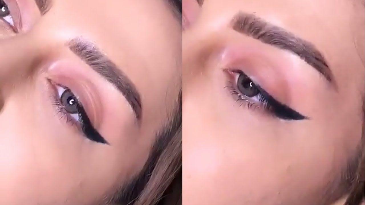 طريقه رسم ايلاينر عريض للعيون المبطنه سناب نور شرف Youtube Nose Ring Makeup Jewelry
