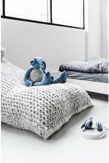 Zilalila Nest Bean Bag Couleur Locale Knitted Pouch Home