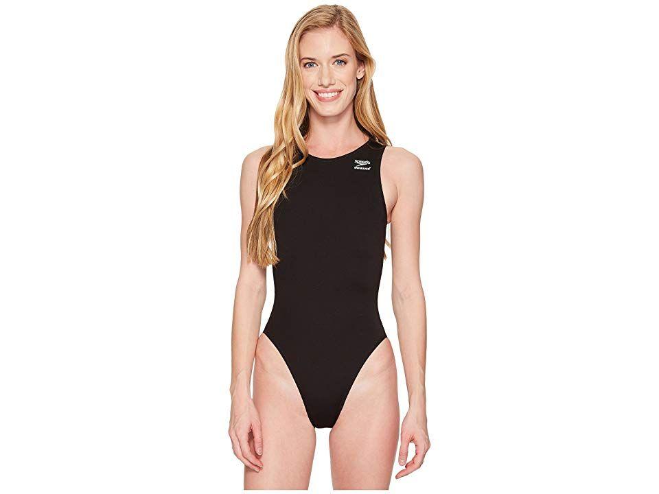 Speedo Avenger Water Polo One Piece Women S Swimsuits One Piece Speedo Black In 2020 One Piece Women Swimsuits One Piece Swimsuit