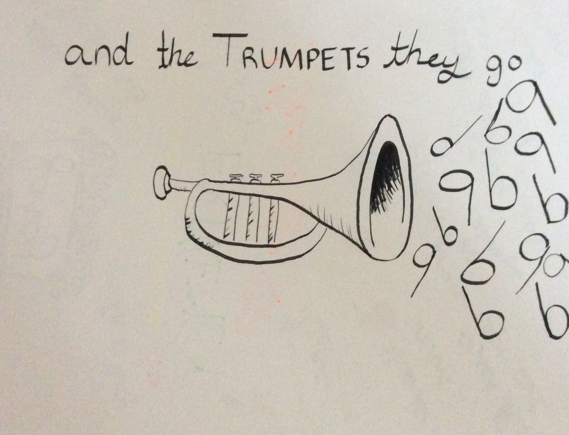 "Calligraphy pen Jason Derulo Trumpets ""and the trumpets"