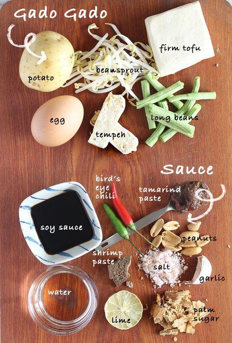 Gado Gado Indonesian Salad With Peanut Sauce Urocze Pomysły