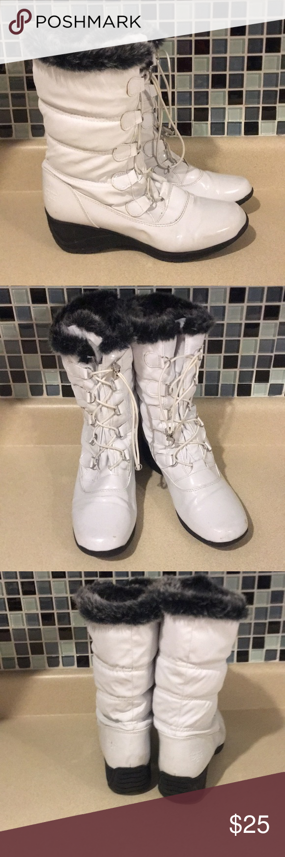Totes White Winter Snow Boots size 9