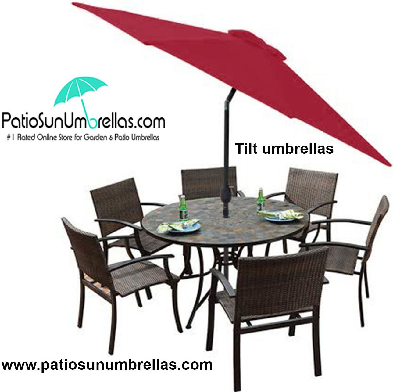 Buy Patio Umberlla Tilt Umbrellas Online With Free Shipping And Lifetime Warranty Patiosunumbrellas Com Umbrella Patio Large Patio Umbrellas