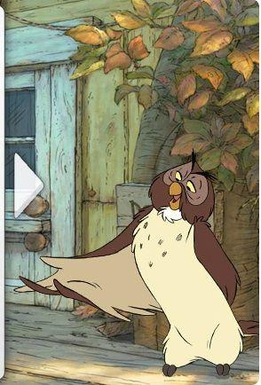 Owls House Winnie The Pooh : house, winnie, Owl's, House, Winnie, Pooh,, Cartoon,